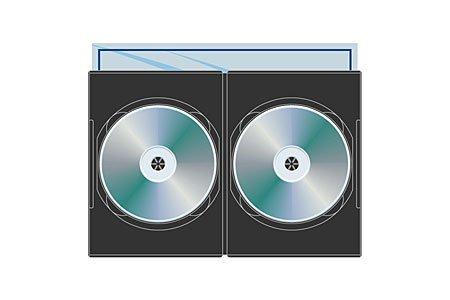 Digital Media Packaging DVD Slim Double 7MM
